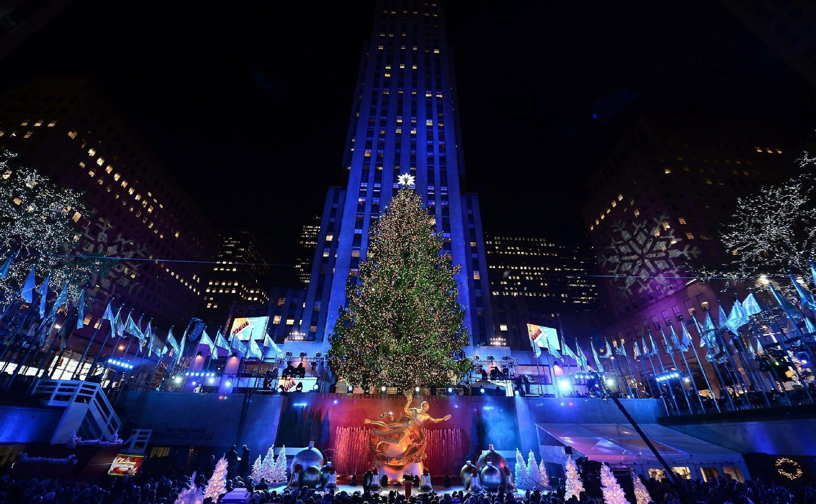 Christbaum am rockefeller center ein deutscher stern in Ruta de la navidad 2016
